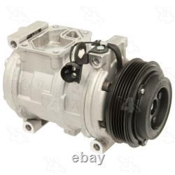 A/C Compressor And Clutch- New Four Seasons 58356