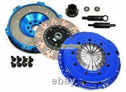 Fx Dual Friction Clutch Kit+aluminum Flywheel For 92-98 Bmw 325 328 M50 M52 E36