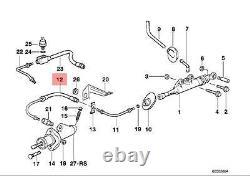Genuine BMW E32 E34 E36 Cabrio Compact Clutch Pressure Hose OEM 21521159350