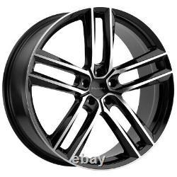 Milanni 475 Clutch 18x8.5 5x120 +38mm Black/Machined Wheel Rim 18 Inch