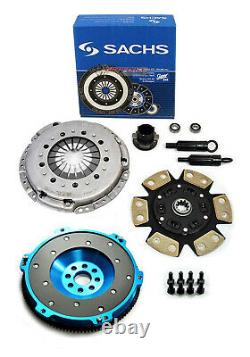 SACHS-FX STAGE 3 DISC CLUTCH KIT & ALUMINUM FLYWHEEL FOR 92-95 BMW 325 i is M50