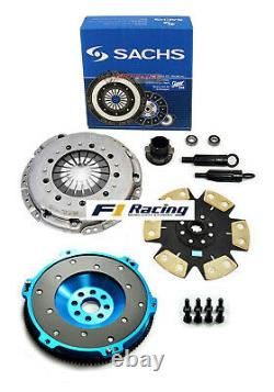 SACHS FX STAGE 4 DISC CLUTCH KIT& ALUMINUM FLYWHEEL FOR 92-95 BMW 325 i is M50