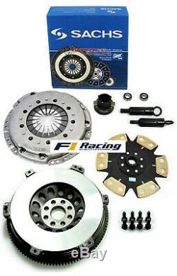 SACHS FX STAGE 4 DISC CLUTCH KIT& CHROMOLY FLYWHEEL 92-95 BMW 325 i is M50 E36